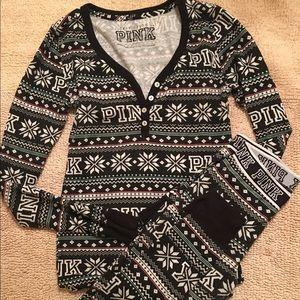 Victoria Pink thermal pajama set
